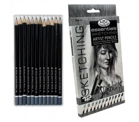 סט 12 עפרונות רישום תוצרת רוייאל