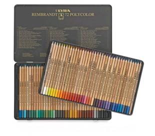 עפרונות צבעוניים מקצועיים רמברנט פוליקולור (ב 3 גדלים)