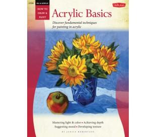 ספר ללימוד ציור בצבע אקריליק - טכניקות בסיסיות