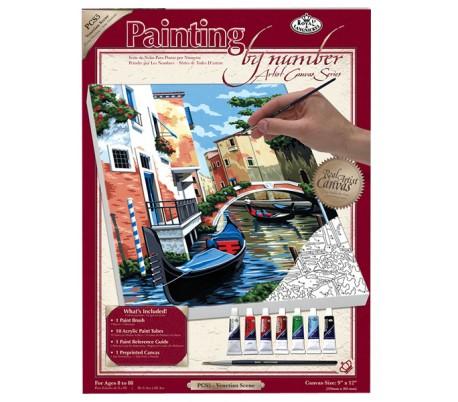 ערכת ציור לפי מספרים - נופי וונציה