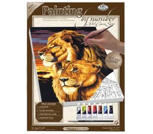 ערכת ציור לפי מספרים - אריות