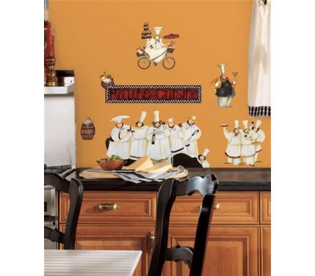מדבקות לקיר טבחים למטבח