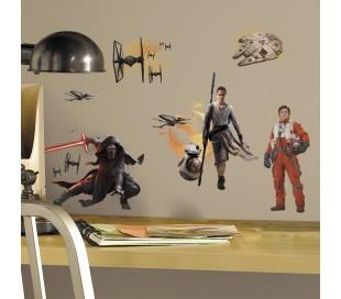 מדבקות קיר  מלחמת הכוכבים 7 גיבורים