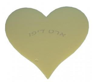 חיתוכי קלקר בצורת לב -  5 יחידות