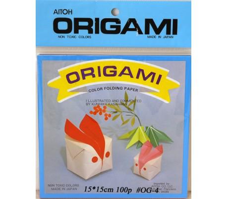 נייר אוריגמי 15*15 חלק צבעוני 100 דף