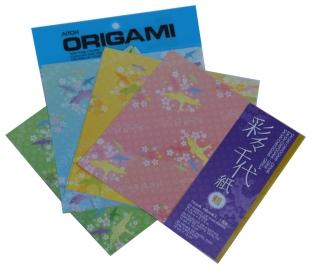 נייר אוריגמי הדפסי חסידות ופרחים