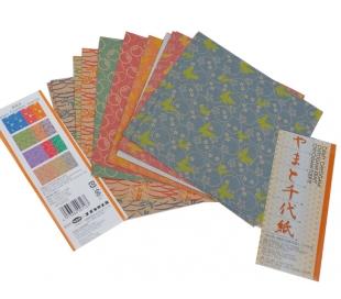 נייר אוריגמי בהדפס צ'יוגמי מעורב 48 דף