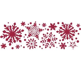 """שבלונות ליצירה -פתיתי שלג 15 * 38 ס""""מ"""