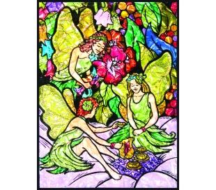 ערכת ציור במספרים צבעי זכוכית - פיות