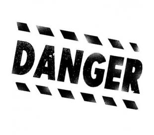 חותמת אקרילית סכנה 5*7 סמ