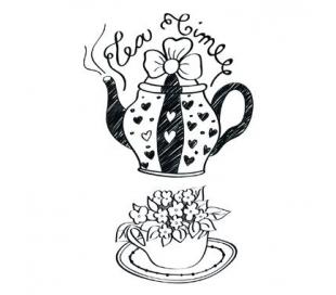 חותמות אקריליות מסיבת תה 11*7 סמ