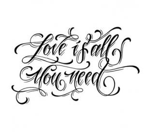 חותמת אקרילית אהבה 11*7 סמ