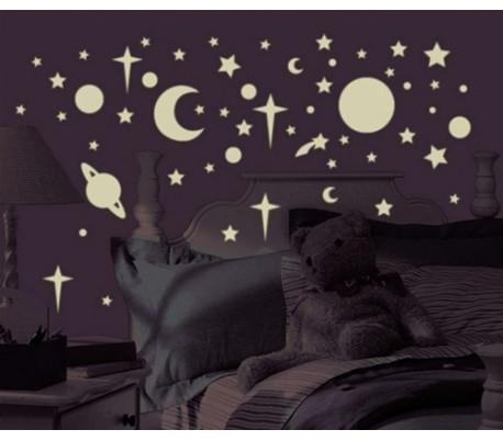 מדבקות קיר כוכבים זוהרים בחושכה