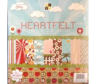 מארז קארדסטוק 24 דפי עיצוב דו צדדי 30*30 HEARTFELT