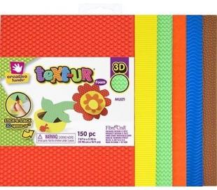 מארז 12 דפי סול עם טקסטורה בצבעי בסיס