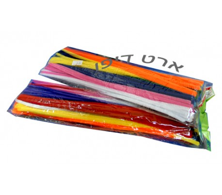 מנקה מקטרות צבעוני 100 יח'