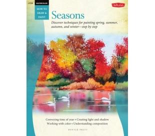 ספר ללימוד ציור בצבע מים - עונות השנה
