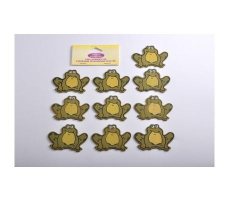 חיתוכי עץ צפרדעים נחמדים 10 יח