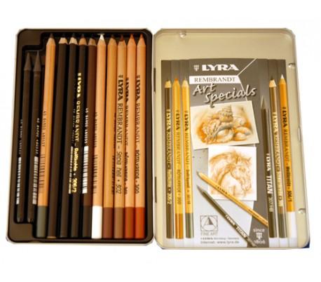 סט 12 עפרונות ליירה מעורב לרישום וגרפית