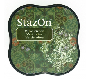כרית דיו פרמננטי בצבע ירוק זית StazOn Midi
