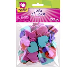 מדבקות סול לבבות צבעוניות - 150 יח