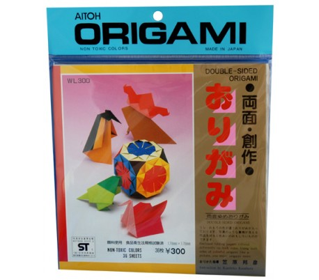 נייר אוריגמי דו צדדי גדול 17.5X17.5 סמ