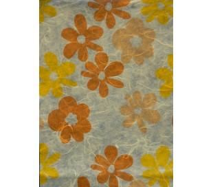 נייר עיצוב 5 דפים בעיטור פרחוני גווני צהוב