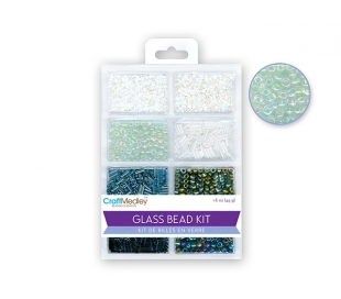 חרוזי זכוכית 8 סוגים - שחור לבן קלסי