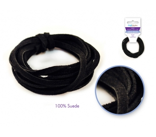 חוט זמש אמיתי שחור
