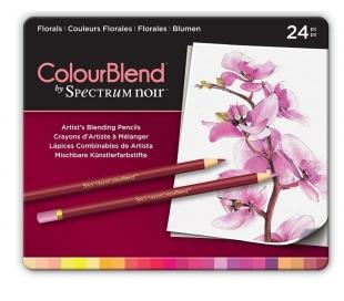 עפרונות ציור מקצועי סט 24 פרחוני Spectrum Noir