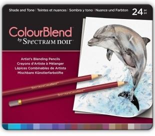עפרונות ציור מקצועי סט 24 צל וגוון Spectrum Noir