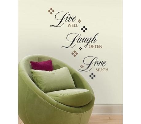 מדבקות קיר לחיות לאהוב ולצחוק