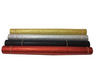גיליונות סול עם נצנצים במבחר צבעים