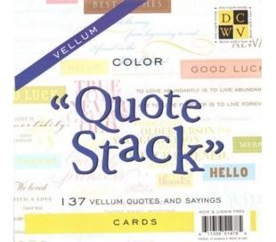 בלורק נייר שקוף עם ציטוטים צבעוניים