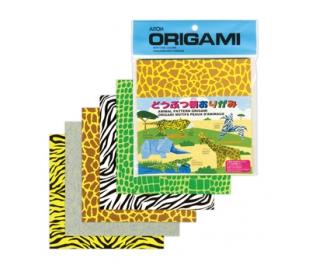 נייר בהדפס אוריגמי חיות 40 דף