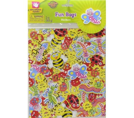 מדבקות סול עם הדפס צבעוני - דבורים וחרקים