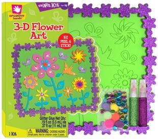 ערכת יצירה פאזל תמונה עם פרחים צבעוניים