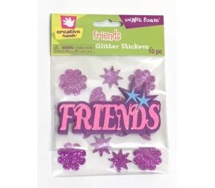 מדבקות סול עם נצנצים - חברים