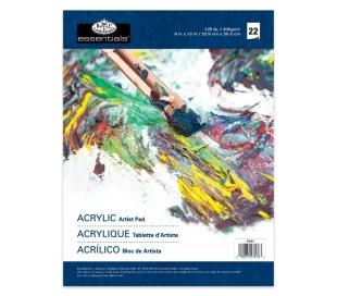 בלוק ציור לצבעי אקריליק