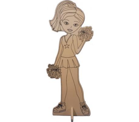 דמויות עץ ליצירה - המעודדת