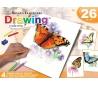 ערכת רישום רוייאל בעפרונות צבעוניים - פרפרים