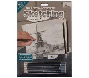 ערכה ללימוד רישום וציור - טחנת רוח