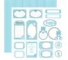 בלוק 10 ניירות קארדסטוק דו צדדי 30*30 - דובי כחול