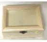 קופסת עץ מהודרת עם מסגרת תמונה במכסה