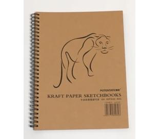 בלוק נייר קראפט בנוני לרישום 50 דף 80 גרם