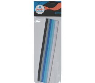 """ניירות קווילינג 300 יח 180*5 מ""""מ צבעי כחול"""