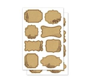 מדבקות תויות נייר - פריז