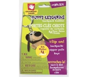 מחזיק מפתחות כלבים עם פומפונים - 4 יח