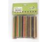 """מקלות עץ עגולים צבעוני - 10 ס""""מ"""
