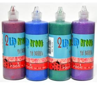 צבעי טוליפ תלת מימד - סט 4 גווני נצנצים כהה